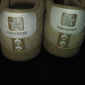 Converse Shoes - Mens tan colored Converse all-star leather shoe